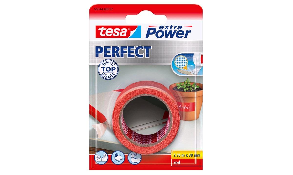 TESA Lærredstape, Extra Power Perfect, 38mm x 2,75mtr., rød