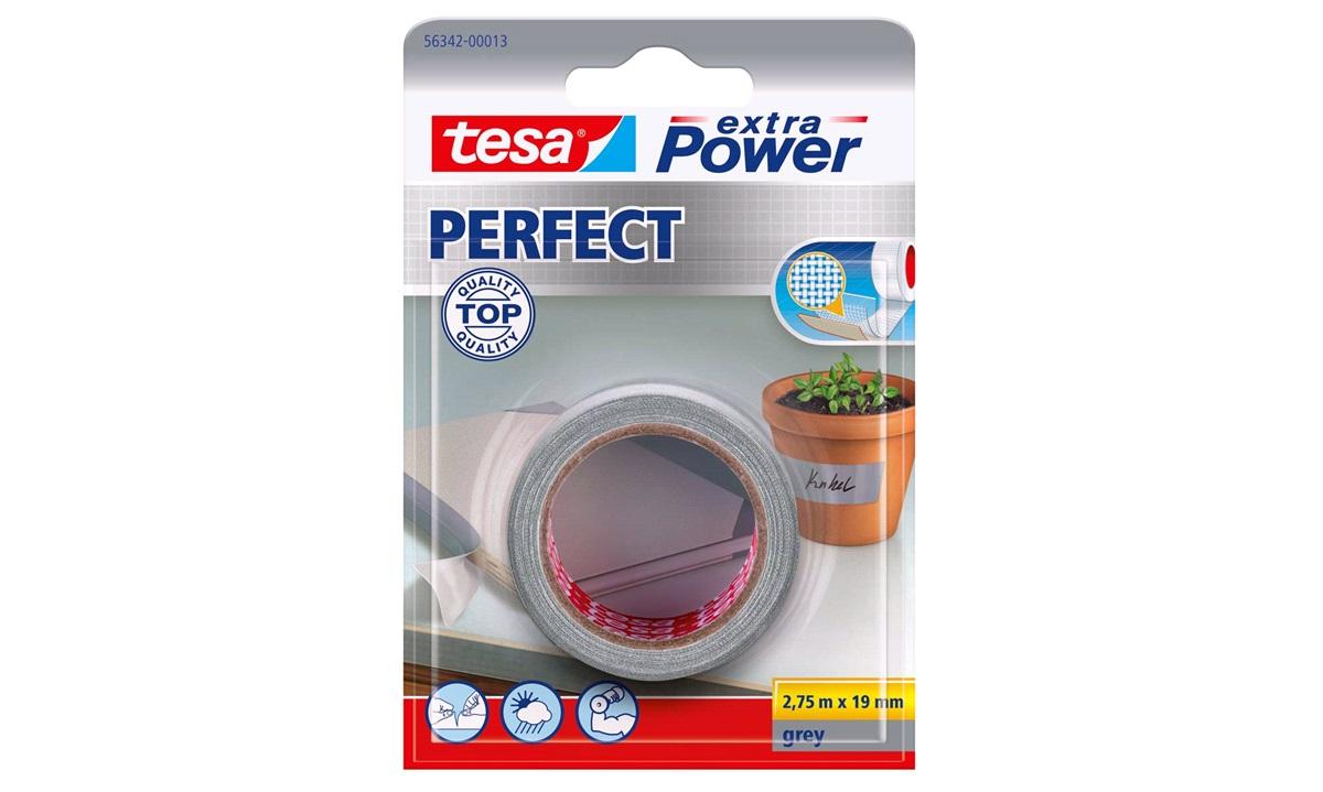 TESA Lærredstape, Ex Power grå 19x2,75