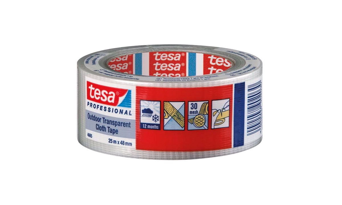 TESA Lærredstape UV, 48mm x 25mtr.