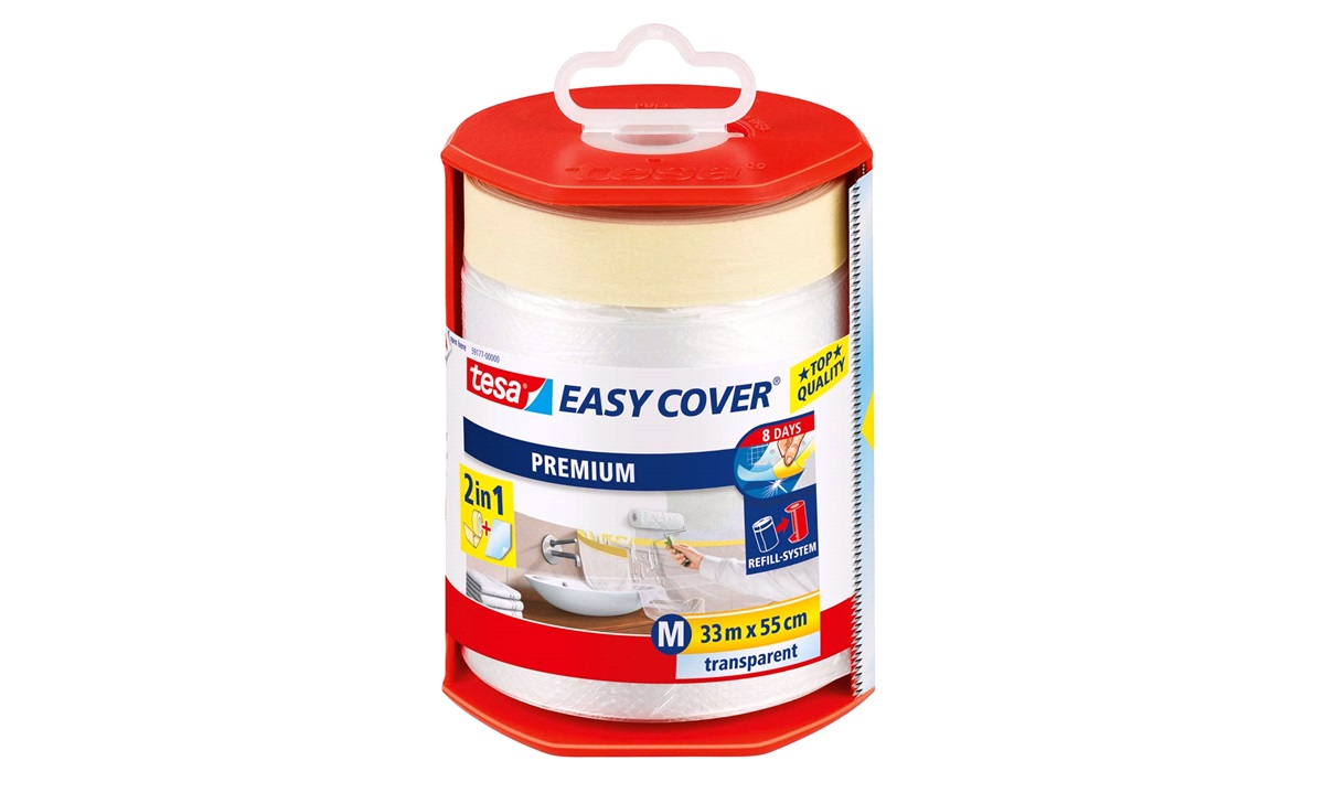 TESA Afdækning Easy Cover, folie 550mm x 33mtr