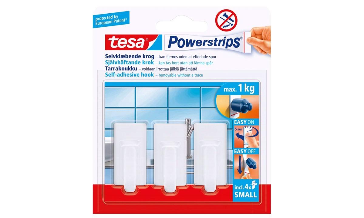 TESA, Knage, hvid, small, Classic, Powerstips