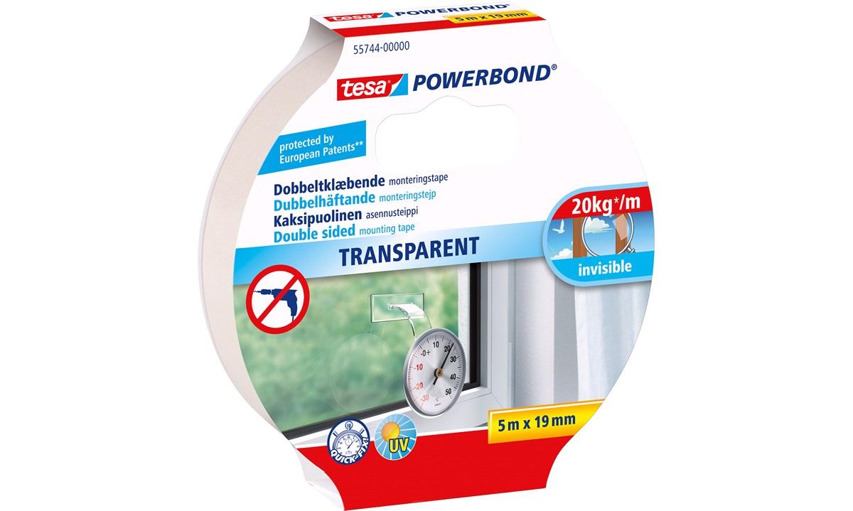 TESA Monteringstape Transparent 20kg/m.