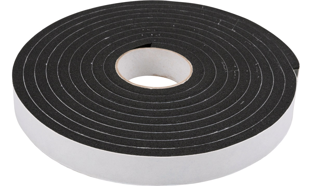 PSP Vinyl Foam Tape, 19x6mmx3mtr Sort