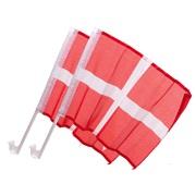Dannebrog flag til siderude 2 stk.