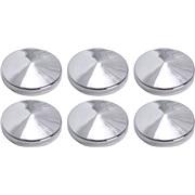 Chrome pynteknapper med tape 6 x 23 mm