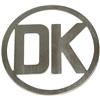 DK Skilt 80 mm rustfrit stål