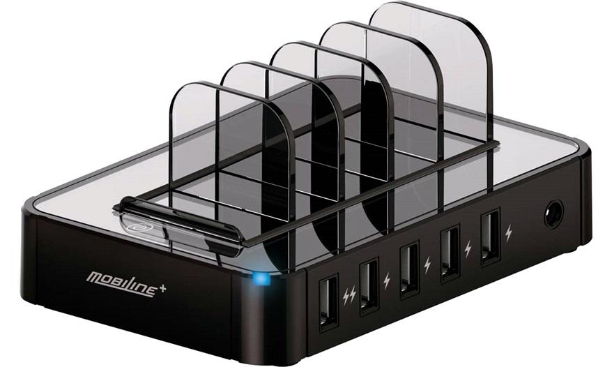 230v usb 5 ports ladestation mobiline opladere. Black Bedroom Furniture Sets. Home Design Ideas