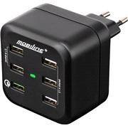 230V Væglader med 6 USB porte
