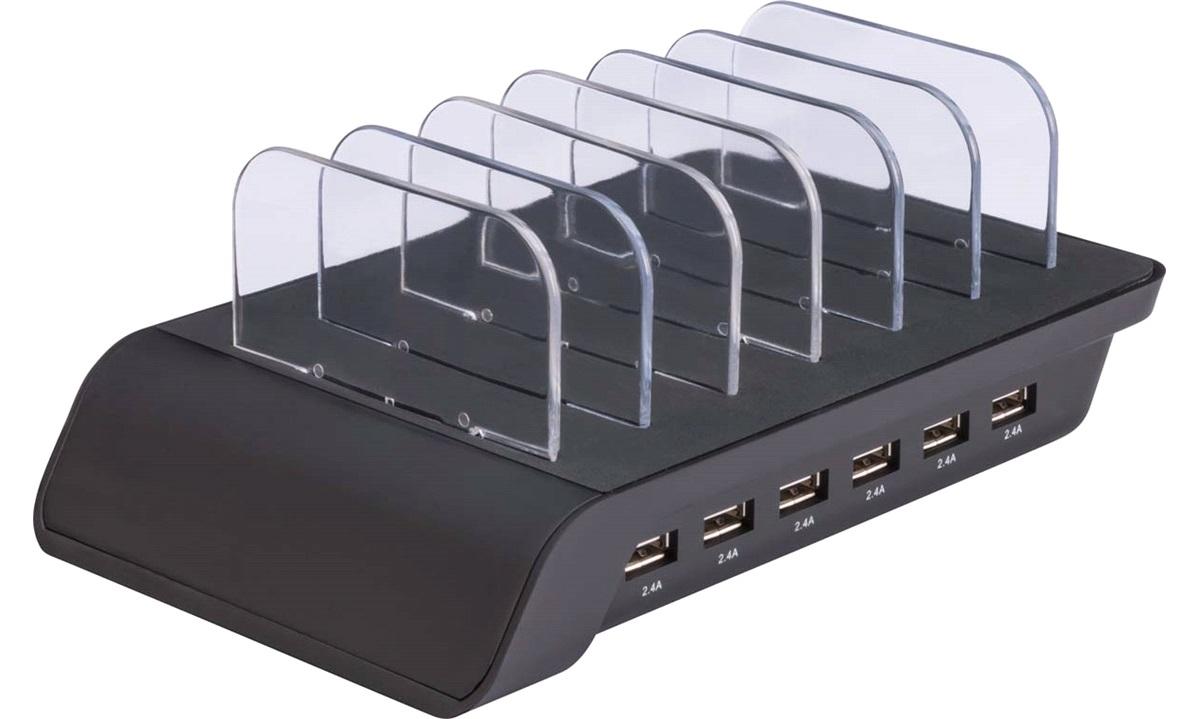 230 V USB 6-ports ladestation Mobiline