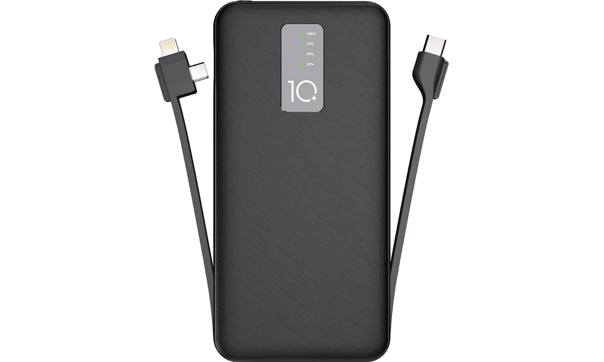 Powerbank 10000 Type C/Lightning/Micro