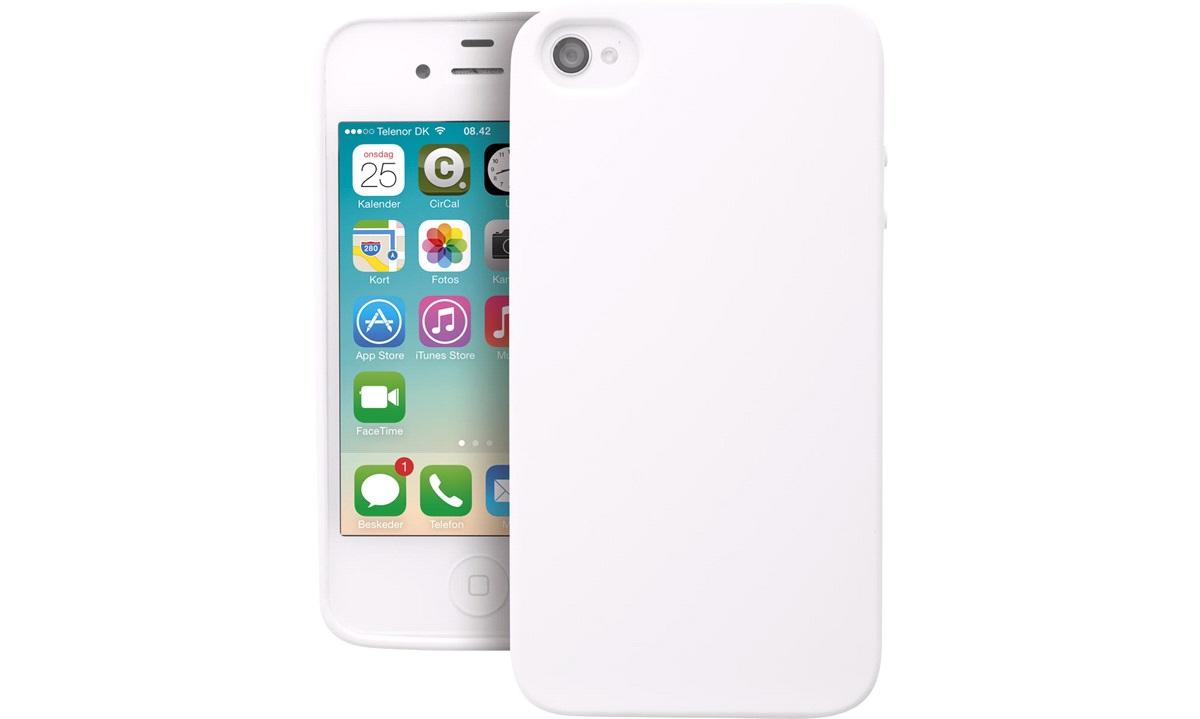 TPU cover hvid iPhone 4/4S