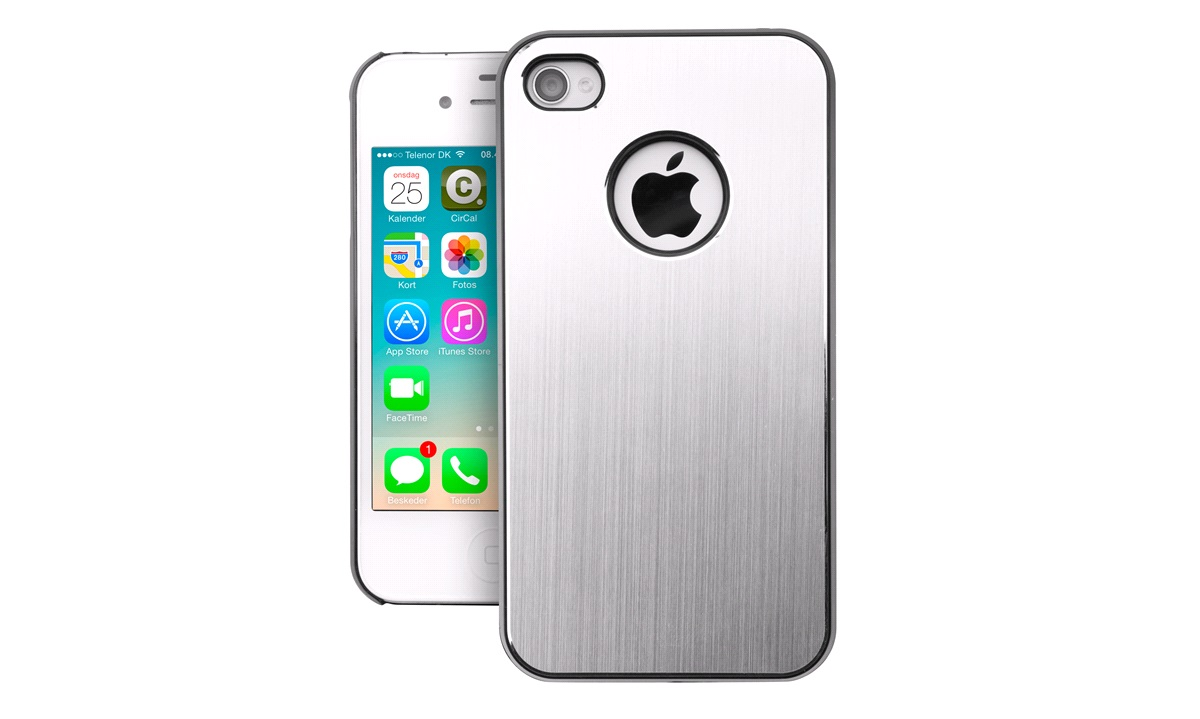 Cover brushed aluminium iPhone 4/4S