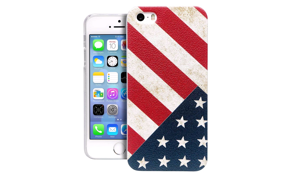 TPU cover US Flag iPhone 5/5S/SE