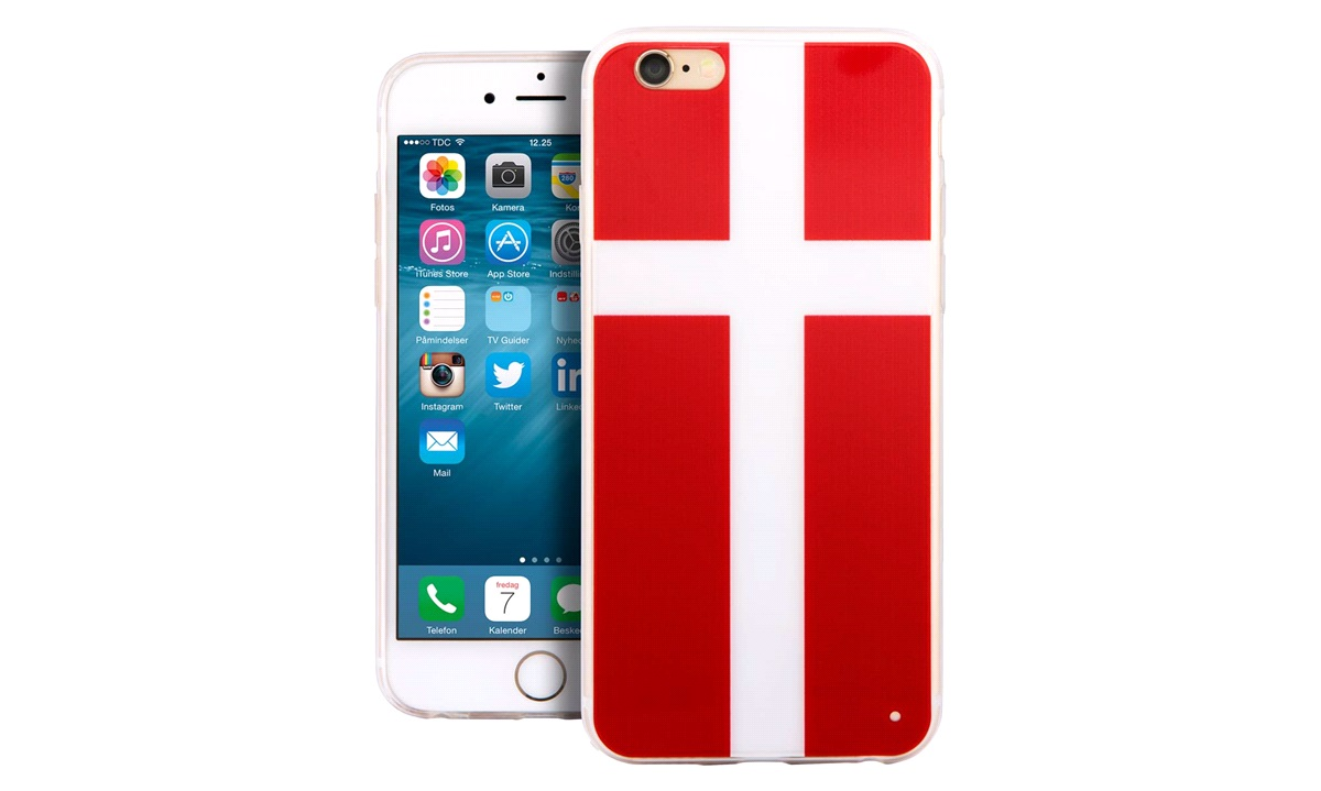 TPU cover DANMARK iPhone 6 PLUS / 6s Plu