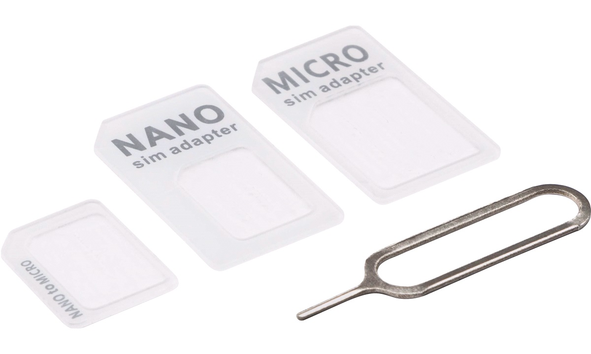 Simkortadapter 3-i-1 Nano-Micro-Sim