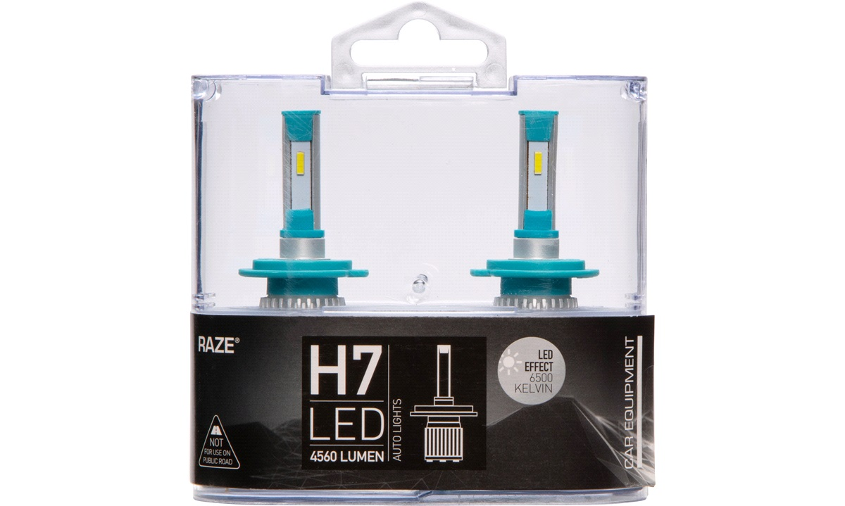 Pæresæt LED H7 6500K 15-20W 4560LM