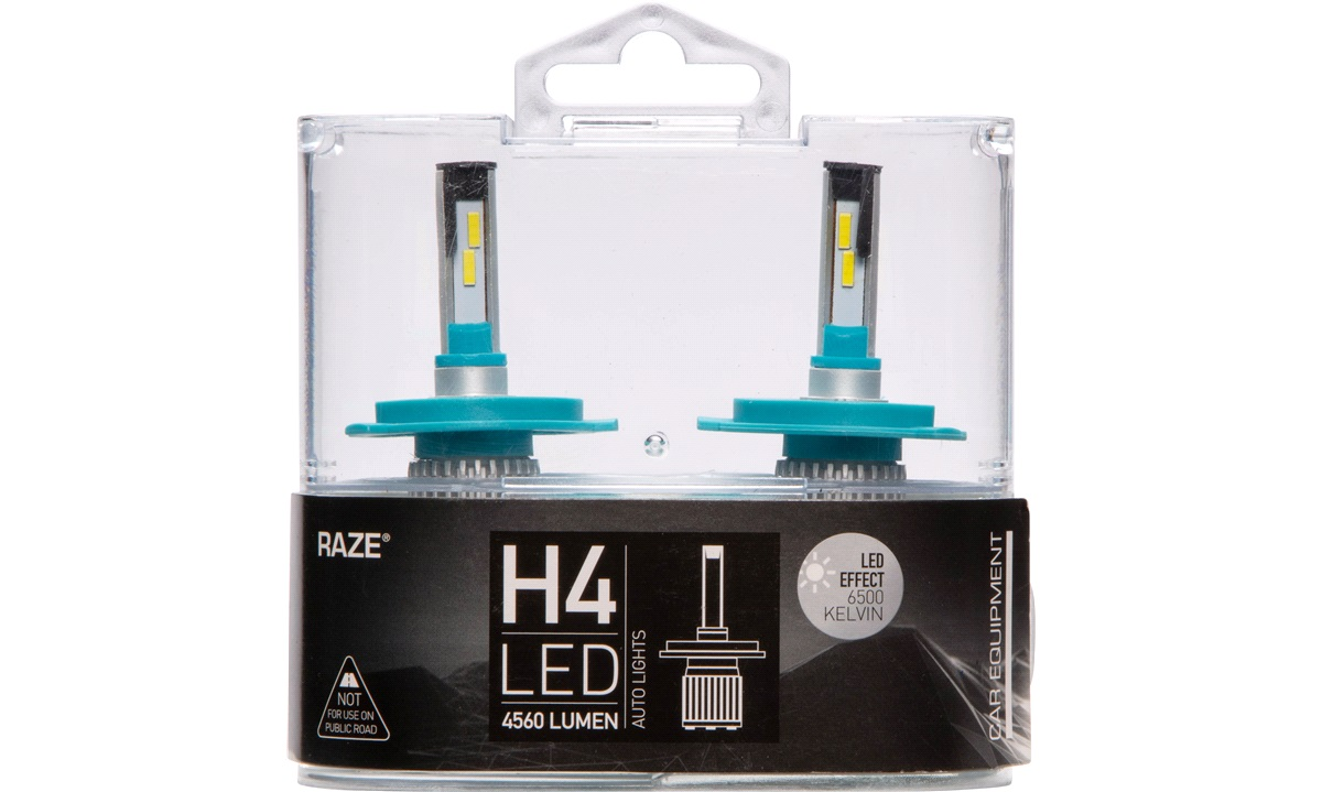 Pæresæt LED H4 6500K 15-20W 4560LM