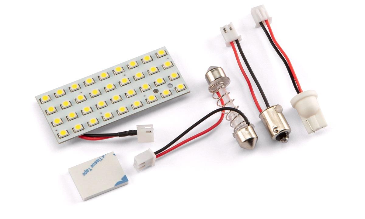 LED interiørlys 60x25mm 9*4LED 12V 2,1W