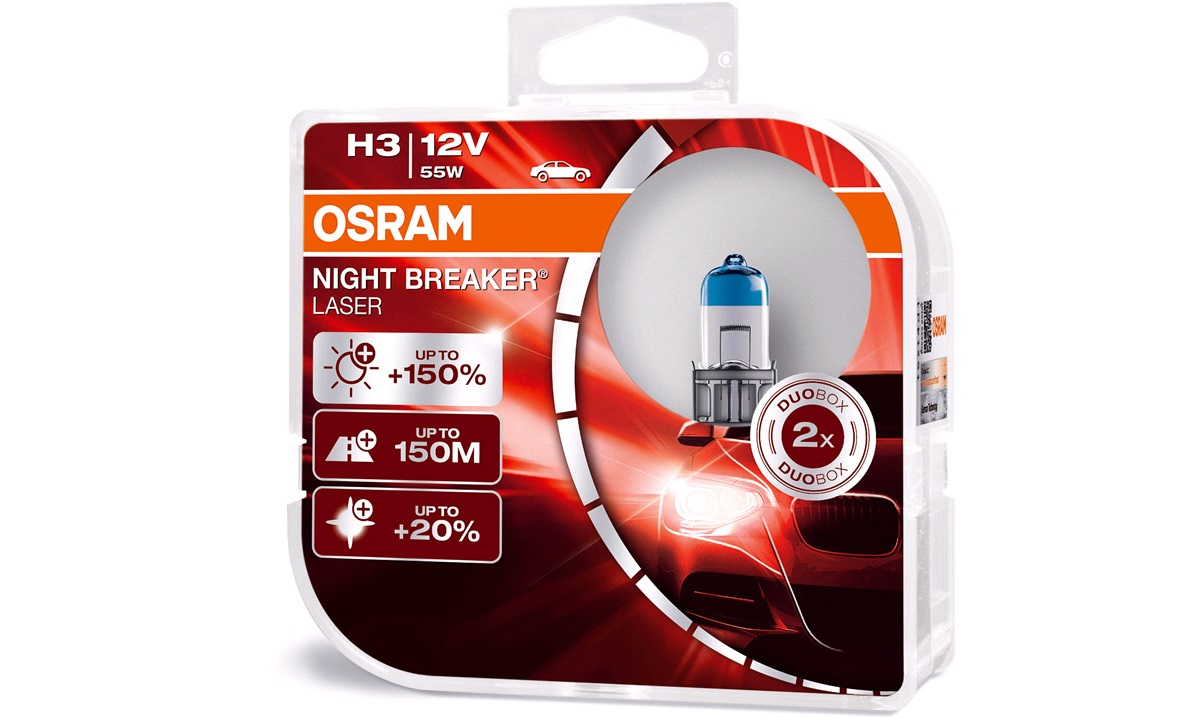 Pæresæt 64151NL NB Laser +150 H3 Osram