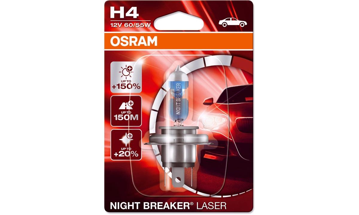 Pære 64193NL NB Laser +150 H4 Osram