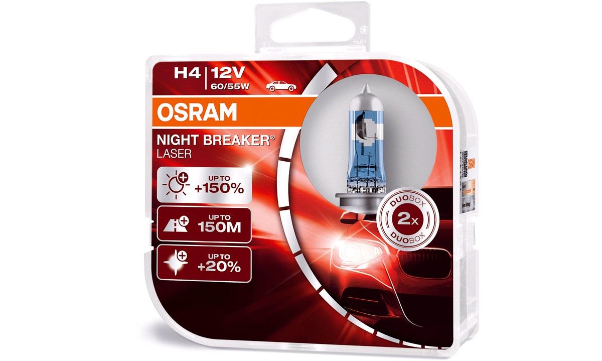 Pæresæt 64193NL NB Laser +150 H4 Osram