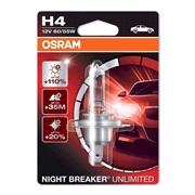 Pære 64193 Night Breaker Unl. H4 Osram