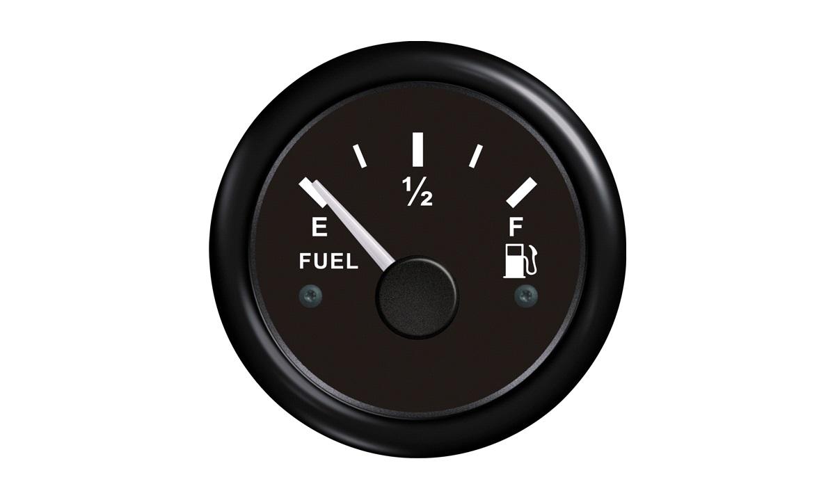 Brændstofmåler sort 0-190ohm 12/24v
