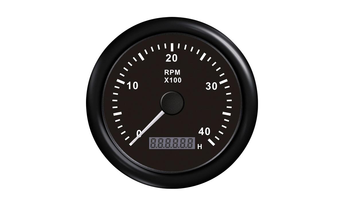 Omdr.tæller diesel 0-4000 0.5-250m/t sor