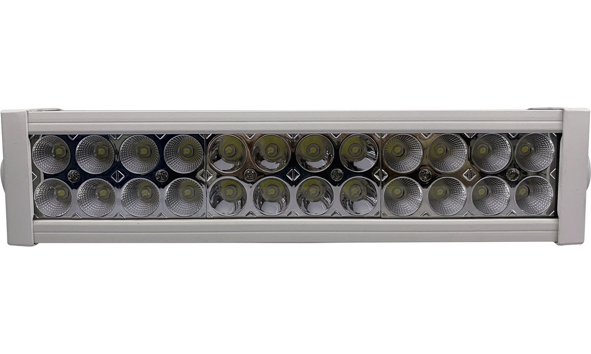 LED light bar 10-30V 72W combo, hvit Alu