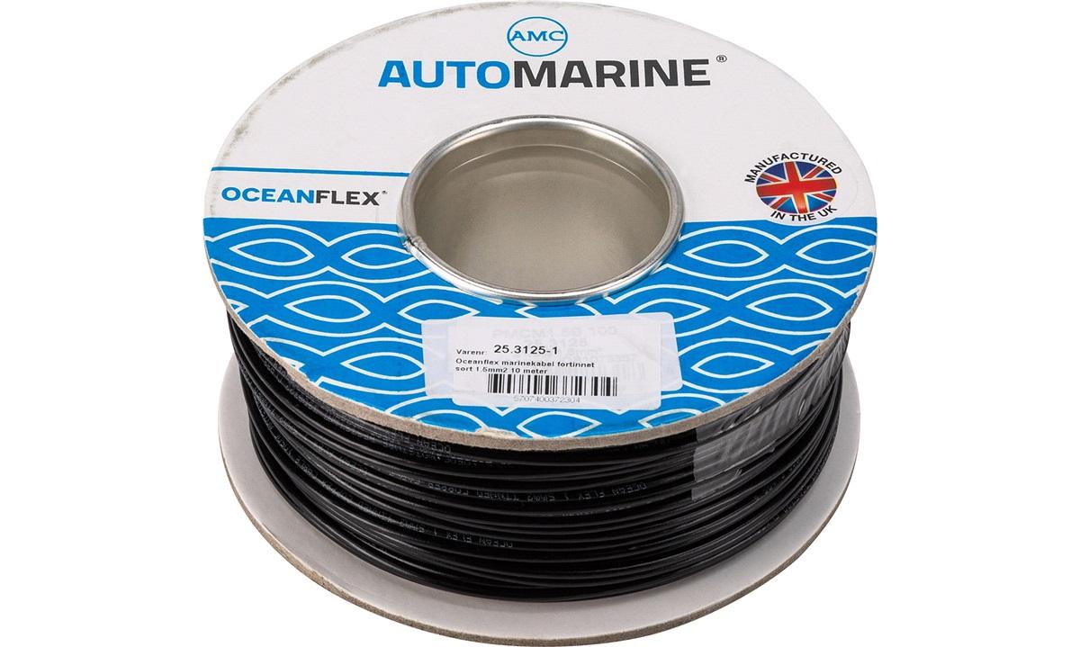 Oceanflex marinekabel sort 1.5mm2 10 m