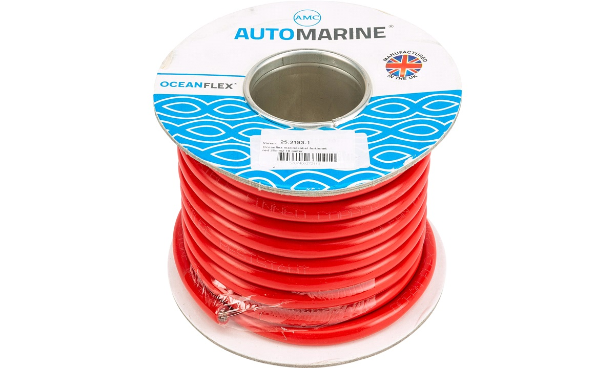 Oceanflex marinekabel rød 25mm2 10 m