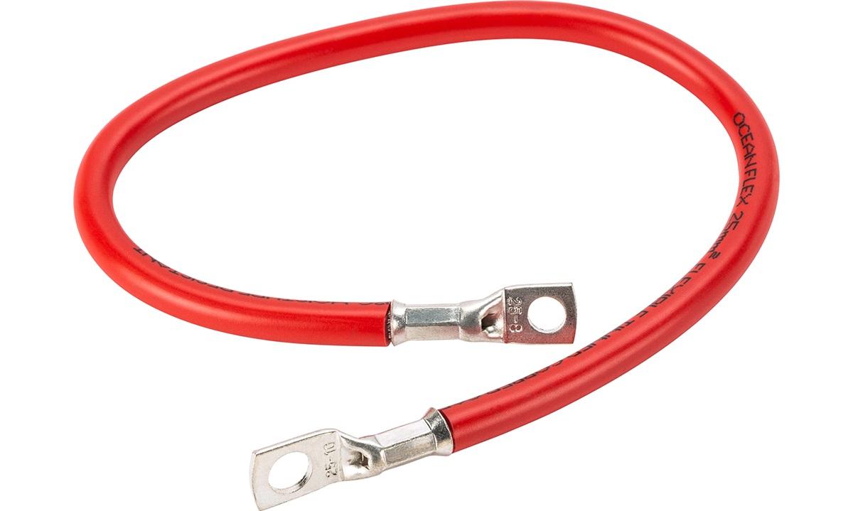 Batterikabel red 25mm2 0,5m m/ kabelsko