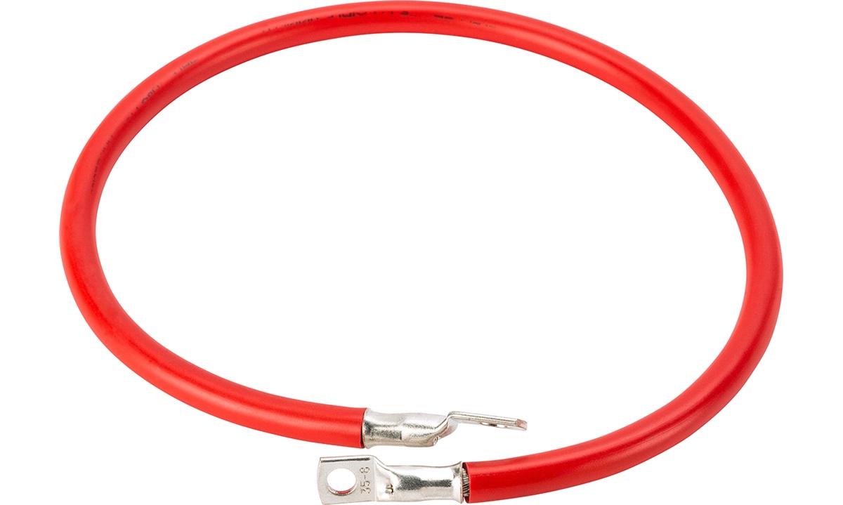 Batterikabel rød 35mm2 0,7m m/ kabelsko