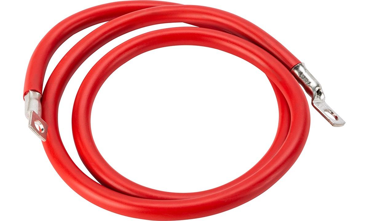 Batterikabel rød 35mm2 1,2m m/ kabelsko
