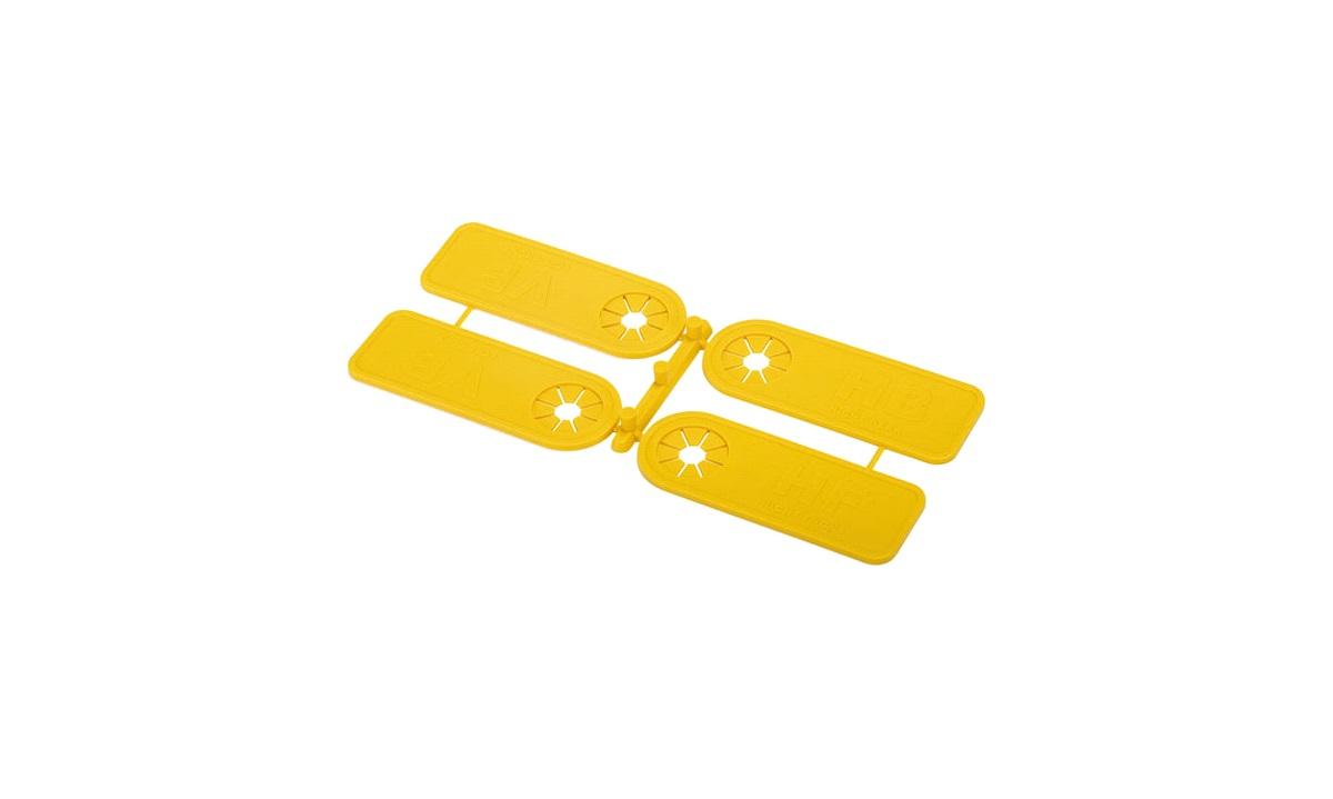 Dækmærkningssæt til ventil, VF,VB,HF,HB