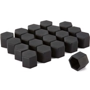 20 stk. 17mm silicone møtrik caps sort