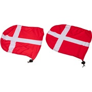 Sidespejl cover med Danmark flag