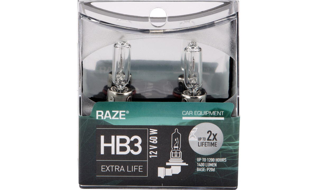 EXTRA LIFE pæresæt HB3 RAZE