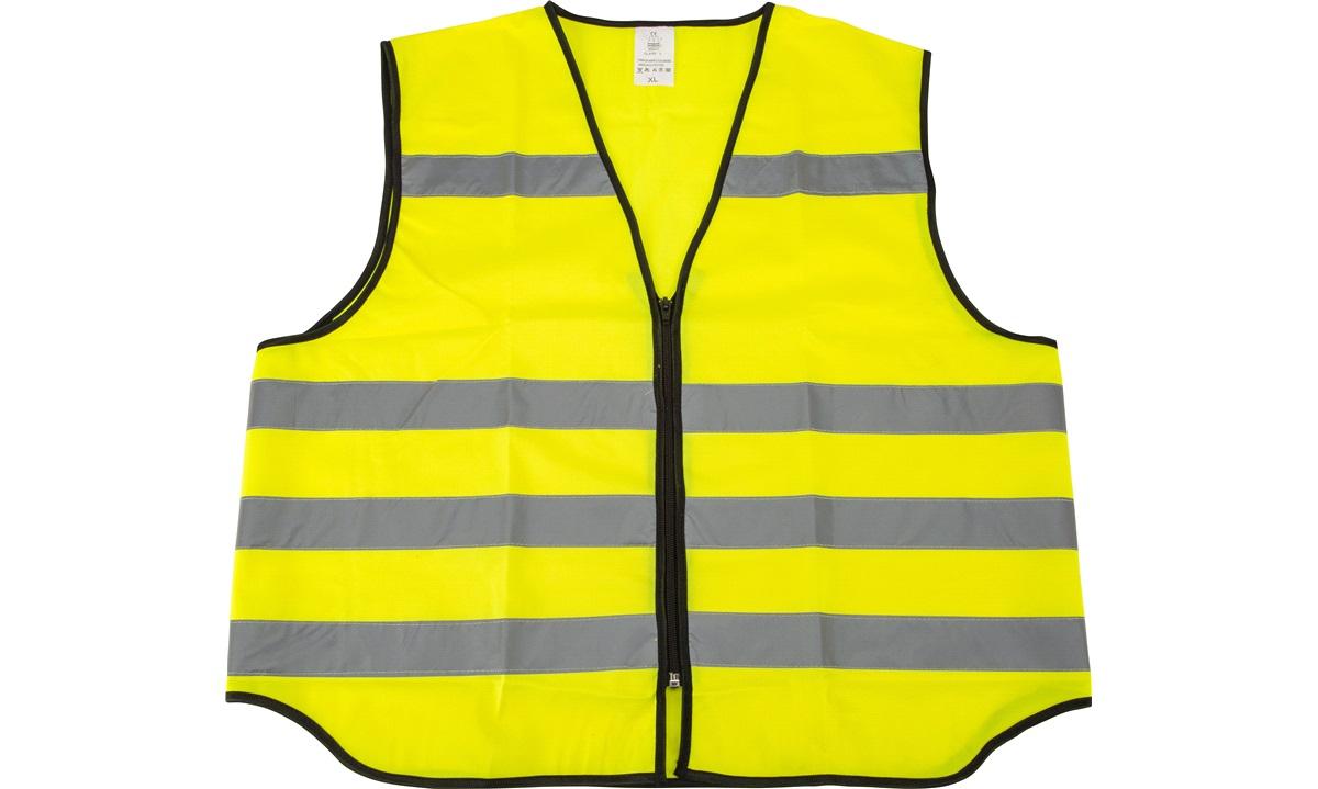 Sikkerhedsvest med refleks og lynlås XL