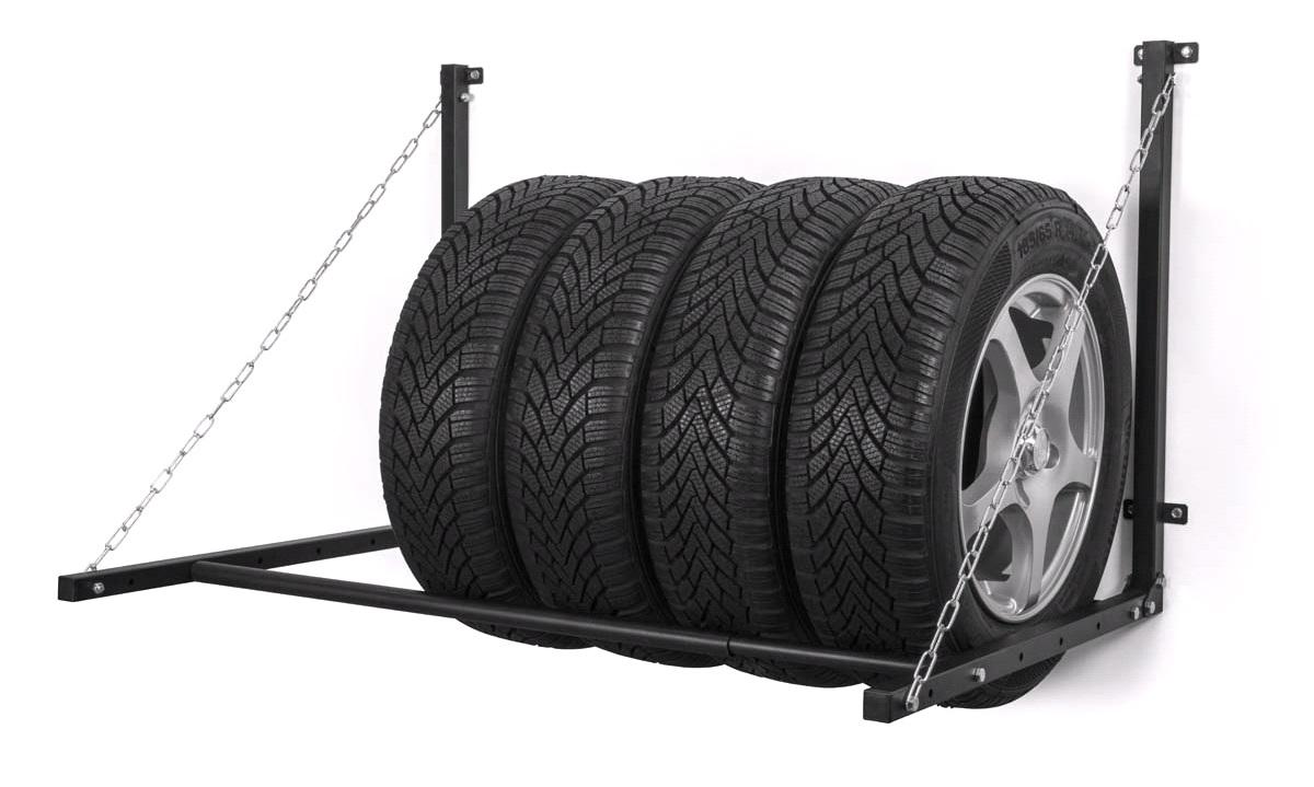 Vægmonteret hjulstativ til 4 hjul