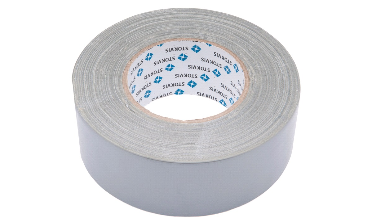 Gaffa tape, sølv, 50mm x 50m