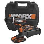 Boremaskine Akku x 2 20V Worx WX166.3