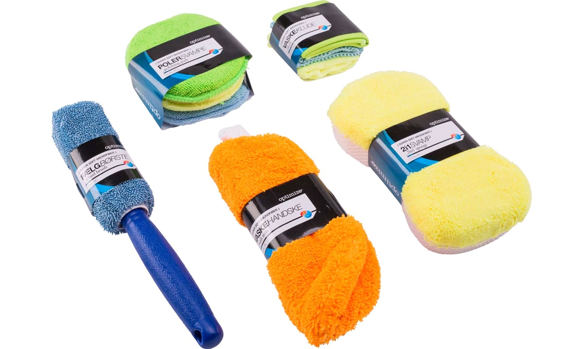 Vaskesæt 9 dele Microfiber