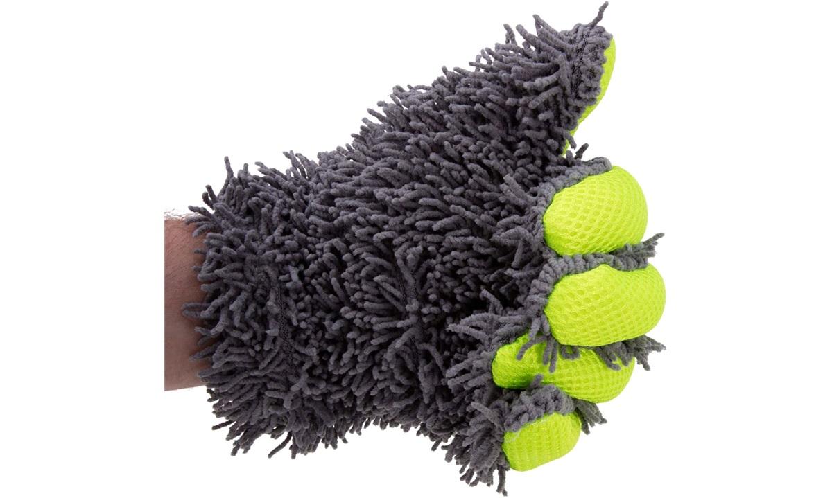 Microfiber handske med fingre til vask
