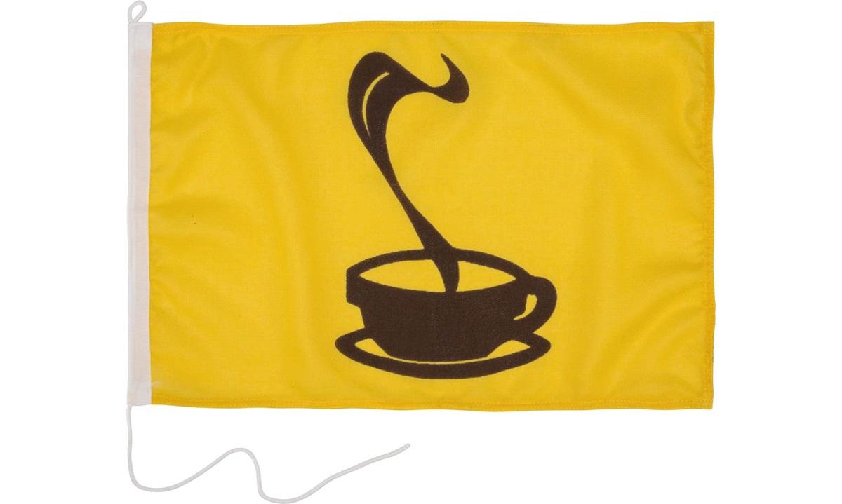 Humorflag, Kaffe, 30x45 cm
