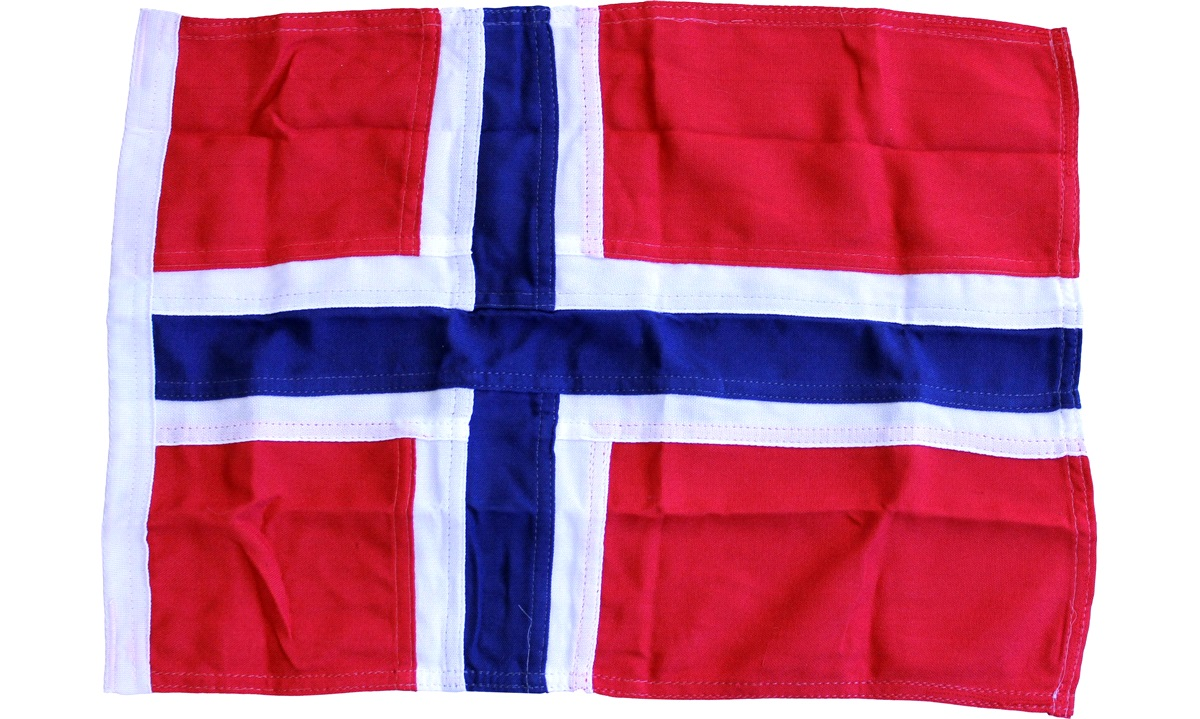 Båtflagg Norge, 90cm, 31-35 fots båt