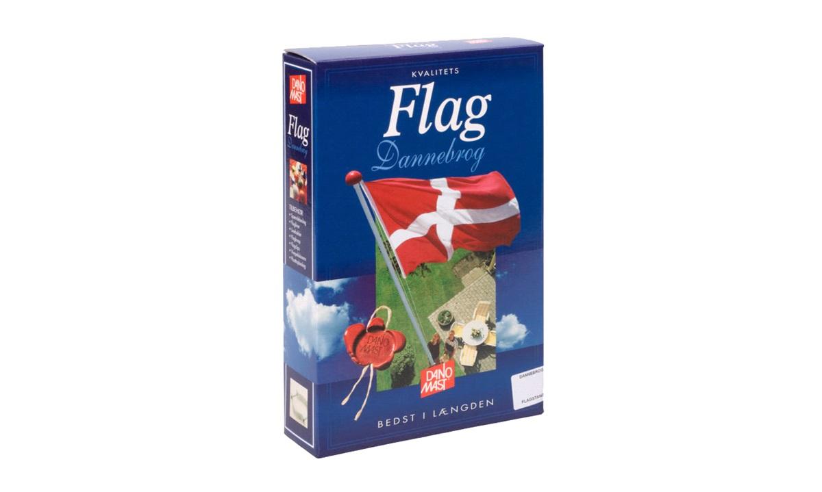 Flag, Dannebrog, 8 mtr. stang, DanoMast