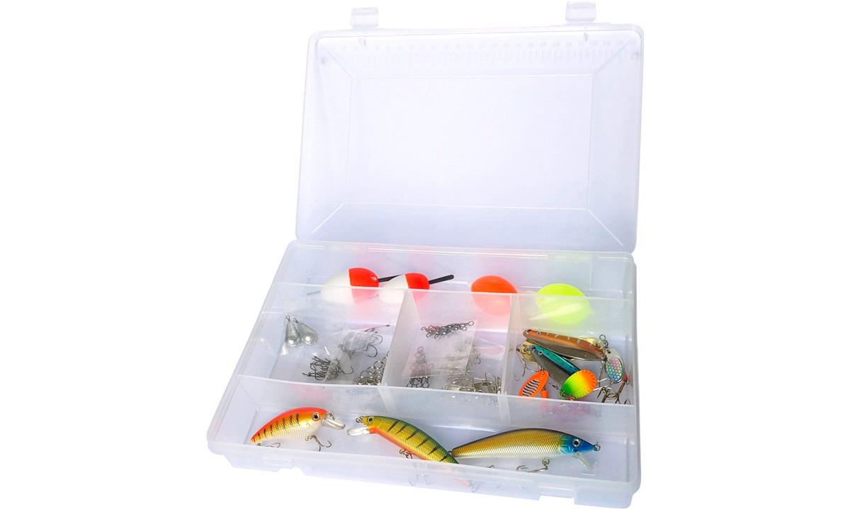 Fiskeboks med 100 deler