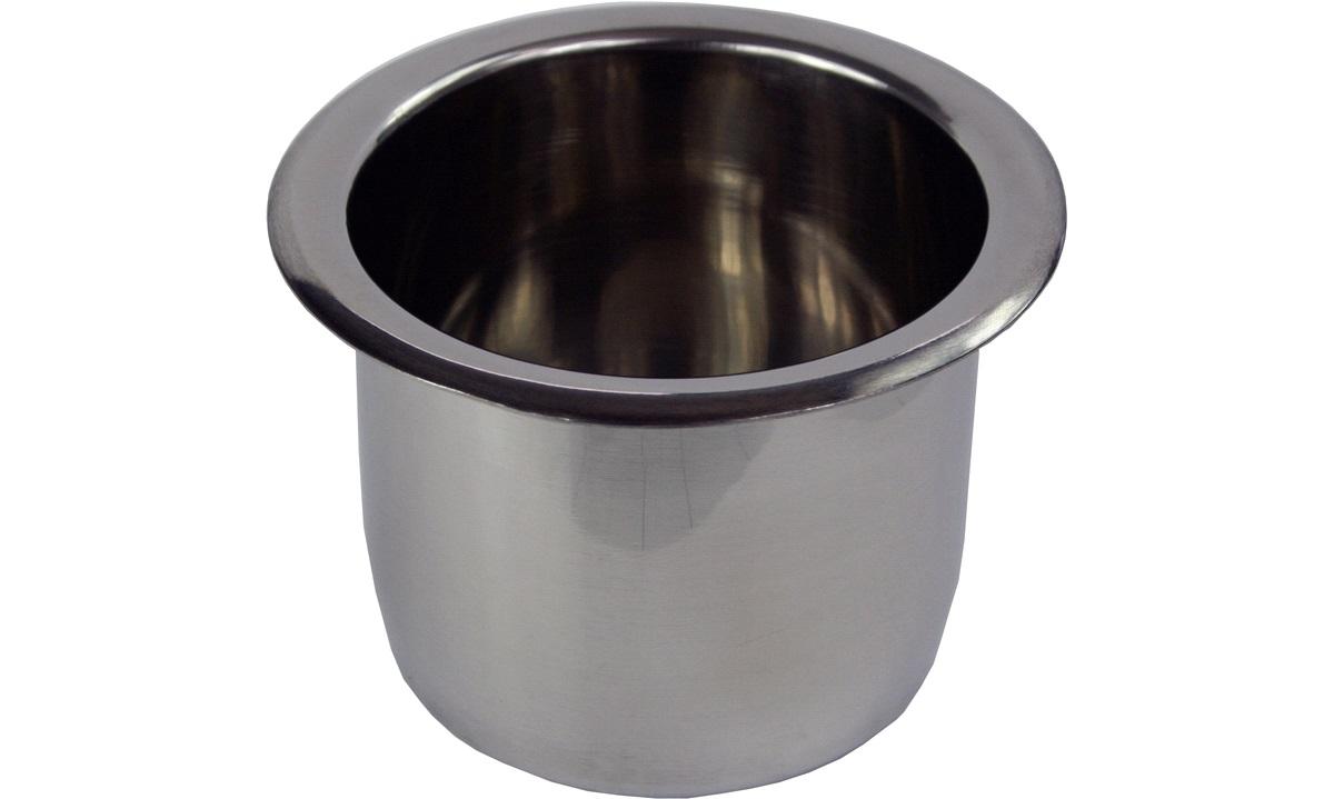 Kopholder AISI 304 stål indbyg. Ø70 mm H-45 mm