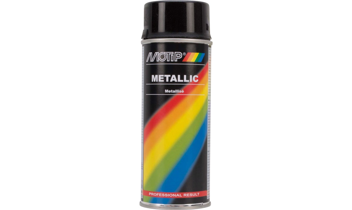 Spraymaling sort metallic 400 ml